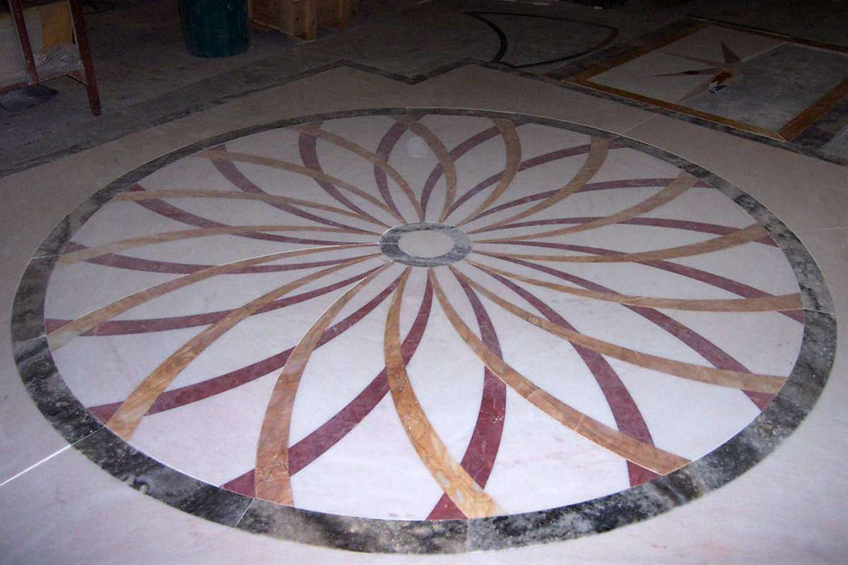 Stone Floor Inlays : Galleria marble floor inlays marmi di carrara